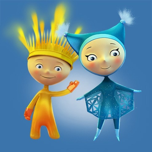 Sochi 2014 Paralympic Winter Games mascots 'Ray of Sunshine' and 'Snowflake'