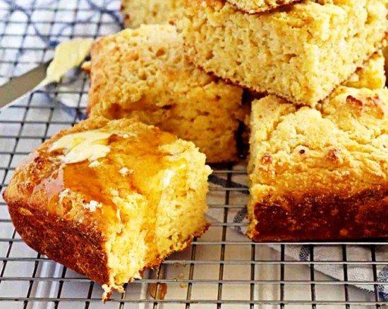 Кукурузный хлеб с творогом l