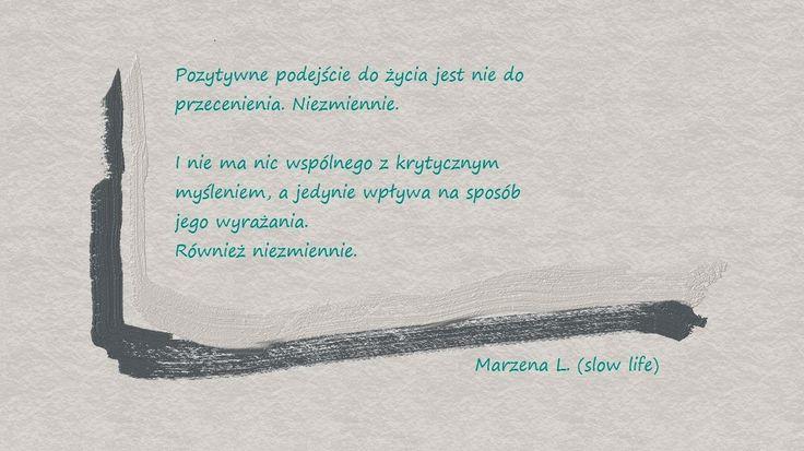 slow life, czyli w swoim własnym tempie