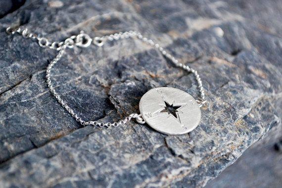 Compass Bracelet /Bracelet With Compass Pendant / by Bubblebox