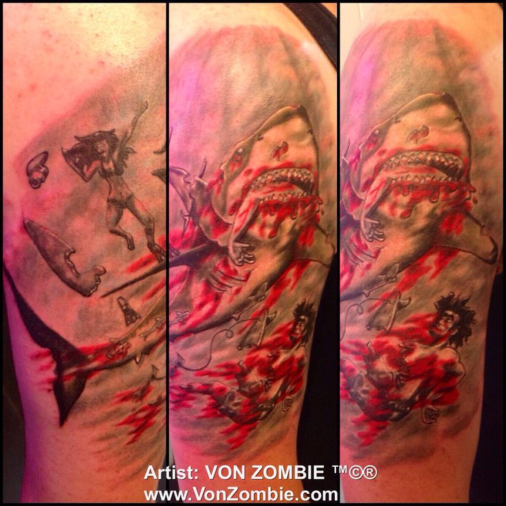 1000+ images about My Tattoo Art Portfolio on Pinterest ... Zombie Shark Tattoo