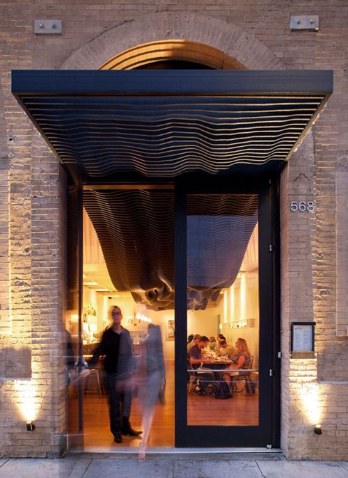 Entry experience. Creative canopy: San Francisco by Aidlin Darling Design.