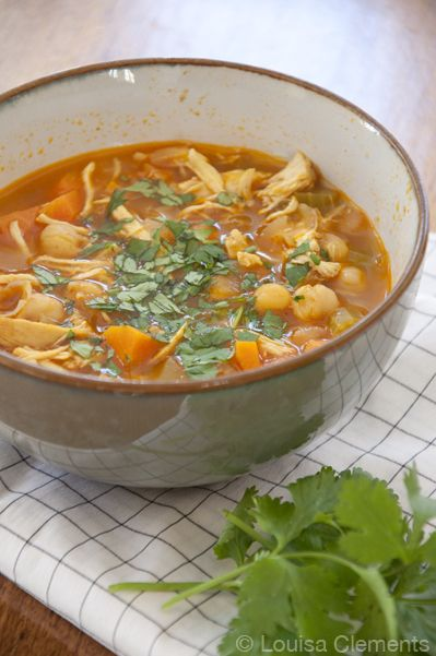 moroccan chicken soup  http://www.livinglou.com/2013/01/moroccan-chicken-soup.html