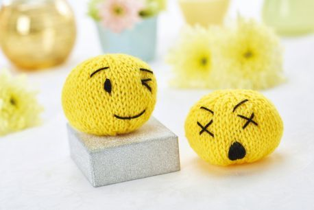 Knitted emojis