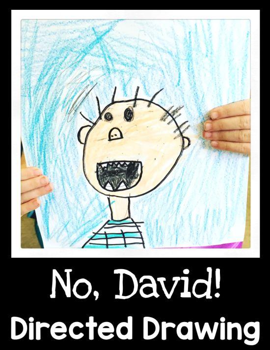No, David! Directed Drawing - First Grade Blue Skies