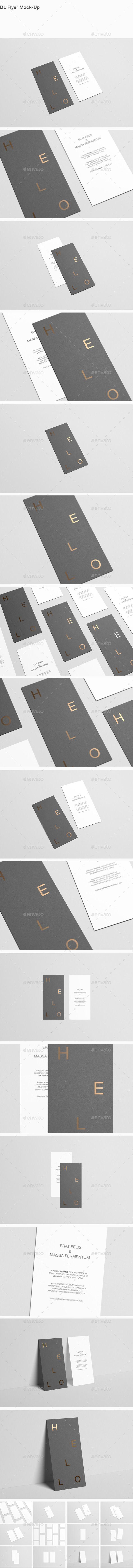 DL Flyer MockUp — Photoshop PSD #foil stamp #texture • Available here → https://graphicriver.net/item/dl-flyer-mockup/12831490?ref=pxcr