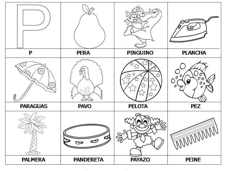 Vocabulario Con Imagenes Para Ninos Palabras Con P La Letra P Lectoescritura