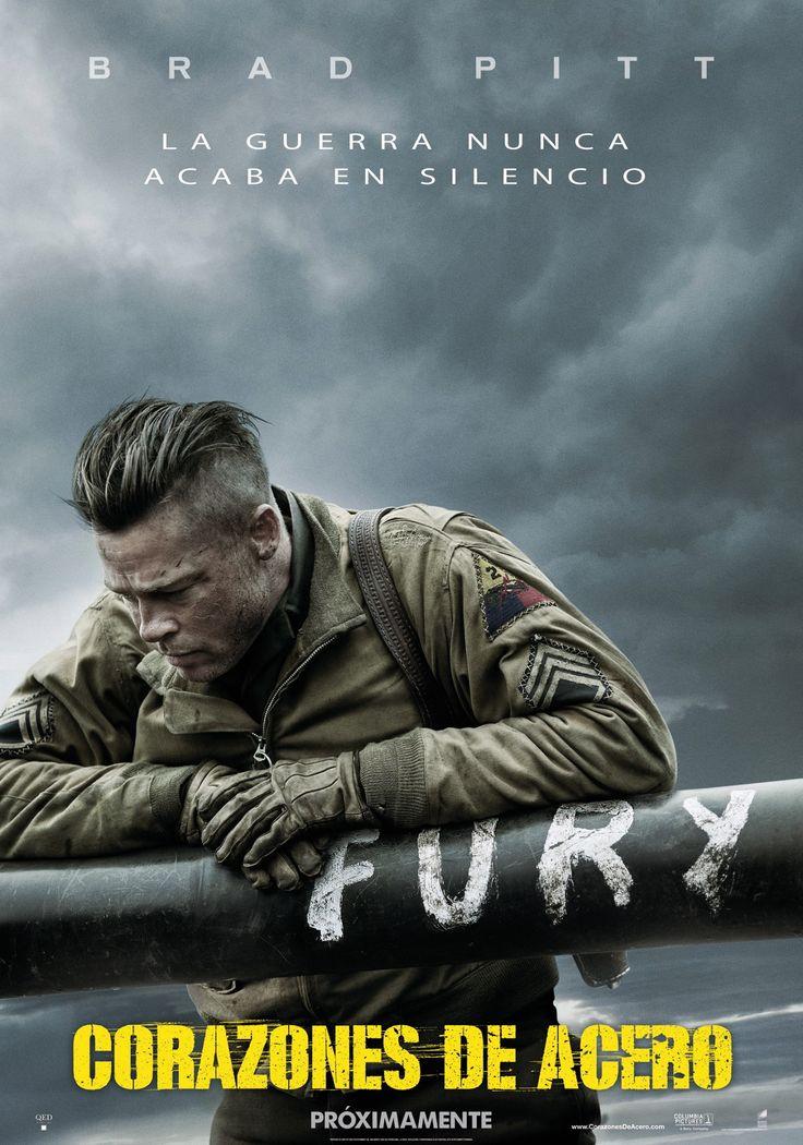 """""""Corazones de acero"""" dirigida por Brad Pitt: Abril de 1945, la guerra está a punto de acabar. Al mando del veterano sargento Wardaddy (Brad Pitt), una brigada de cinco soldados americanos a bordo de un tanque -el Fury- ha de luchar contra un ejército nazi al borde de la desesperación, pues los alemanes saben que su derrota estaba ya cantada por aquel entonces."""