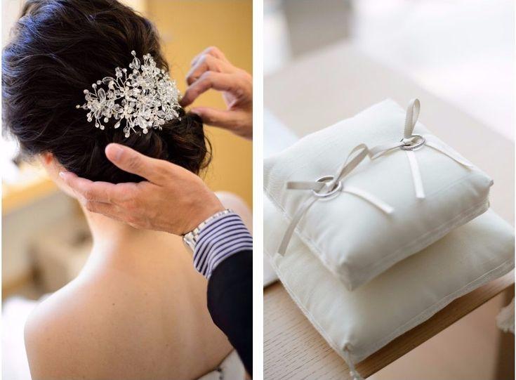 Photography:unison  #パレスホテル東京 #結婚式 #ヘッドピース #ヘアアクセサリー #結婚指輪 #ティファニー