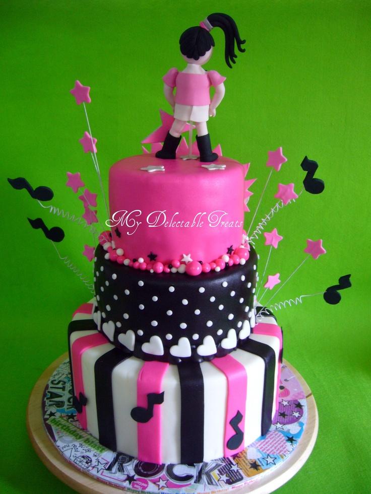 Rock star theme cake