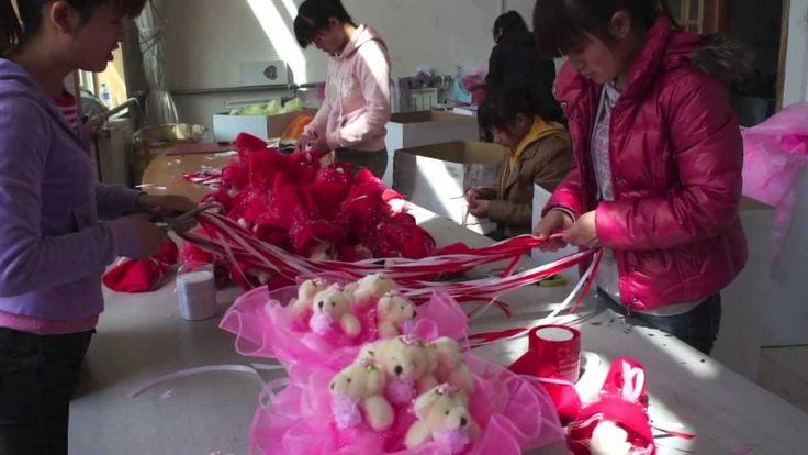 #2 Производстве букетов из игрушек в Китае