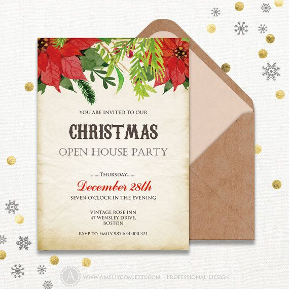 25+ unique Holiday party invitation template ideas on Pinterest - professional invitation template