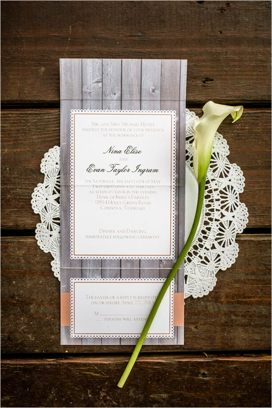 Wedding Invitations Memphis Tn: Country Chic Wedding In Memphis, Tennessee