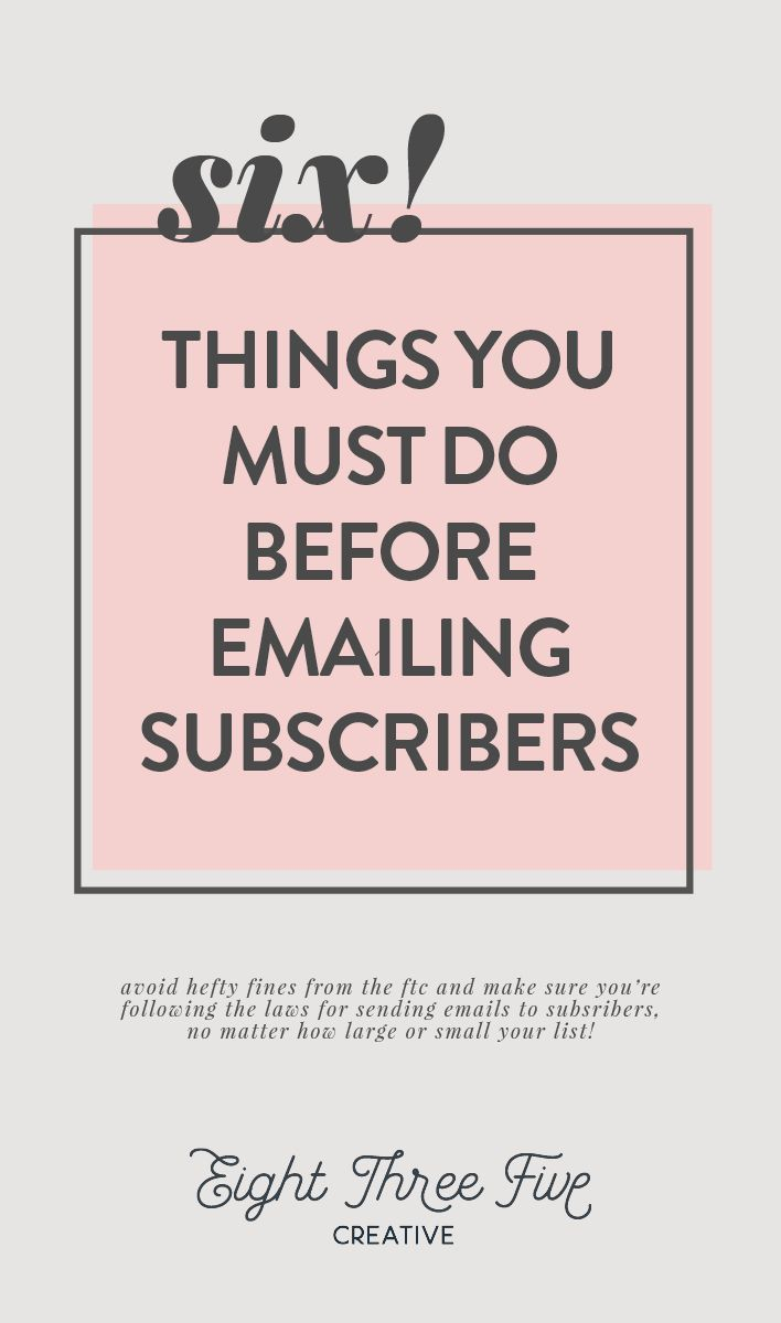E Marketing Salon 6 Things You Must Do Before Emailing Your Subscribers Email
