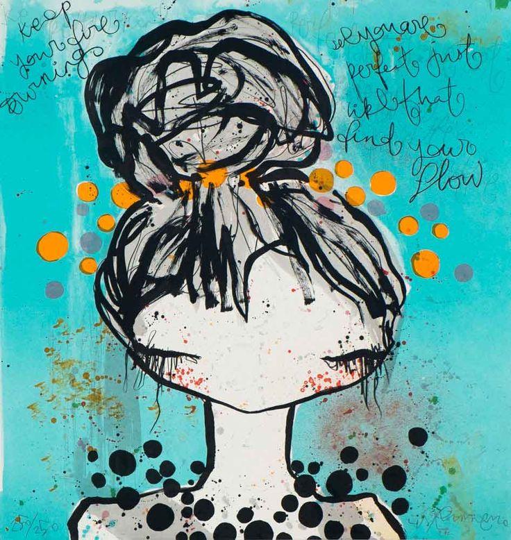 Black pearl by Lisa Rinnevuo - mitt första konstinköp