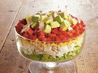 Summer Layered Chicken Salad recipe from Betty Crocker