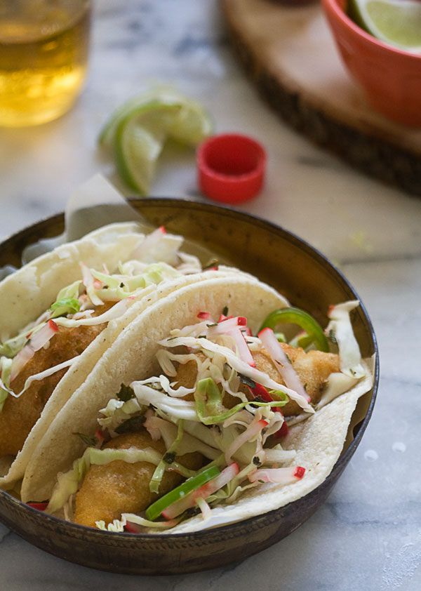 Baja-Style Fish Tacos // A Cozy Kitchen. fish tacos = pretty much my favorite food