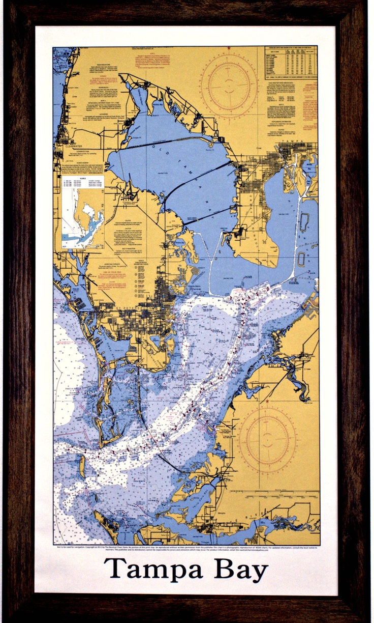 21 best nautical chart art images on pinterest nautical chart tampa bay by chartman publications geenschuldenfo Image collections