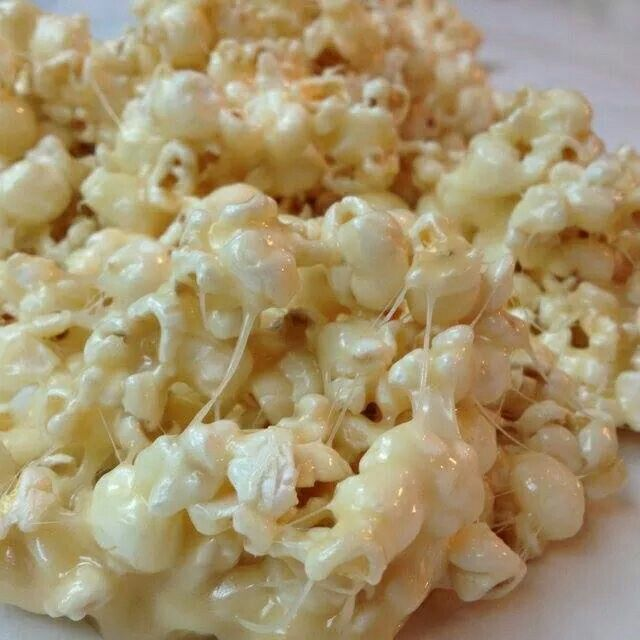 1/2 c butter. 1/2 c brown sugar 10 large marshmallows. 12 cups popcorn