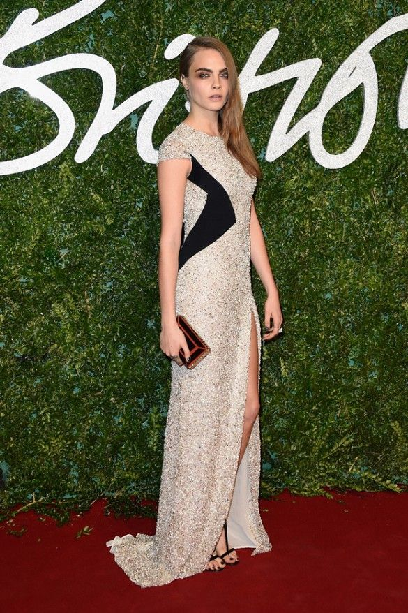 Cara Delevingne British Fashion Awards (via Who What Wear)