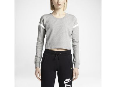 Nike T/F Mesh-Back Cropped Crew Women's Top