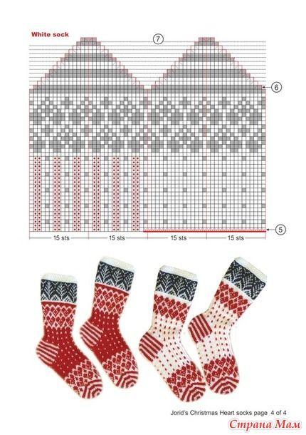 Ещё одни носки к Новогоднему конкурсу.  Все про Конкурс - здесь:http://www.stranamam.ru/  Успехов!