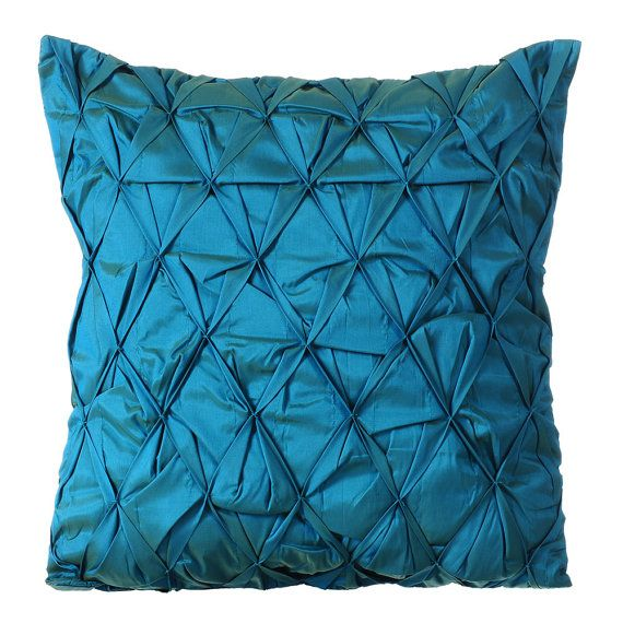 blue decorative throw pillow cover sofa pillow by