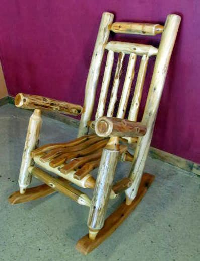 CEDAR LOG ROCKING CHAIR This Is A Comfy Rocking Chair Made From Hand Peeled  Cedar Logs. This Price Is For One Rocking Chair Sturdy And Durable Measures  25u201d ...