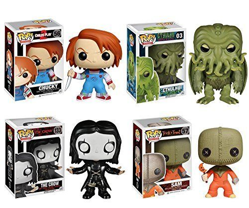 Funko Horror Classics POP! Movies Vinyl Collectors Set: Chucky Cthulhu The Crow & Sam Action Figur @ niftywarehouse.com #NiftyWarehouse #Geek #Horror #Creepy #Scary #Movies