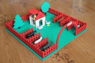 """Игровая основа """"Ферма"""" от 3D Столярка г.Орел Размер основания 50х50 см."""