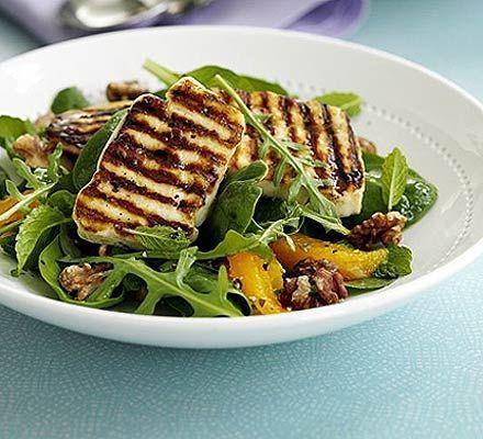 Halloumi and orange salad