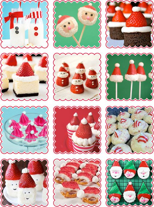 A dozen scrumptious Santa snacks for Christmas! #christmas #food #recipes #santa