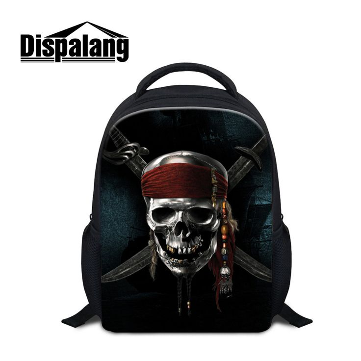 Dispalang Skull Printing Mini Backpacks For Kindergarten Girls Boys School Bags Cool Children Book Bag Baby Student Satchel