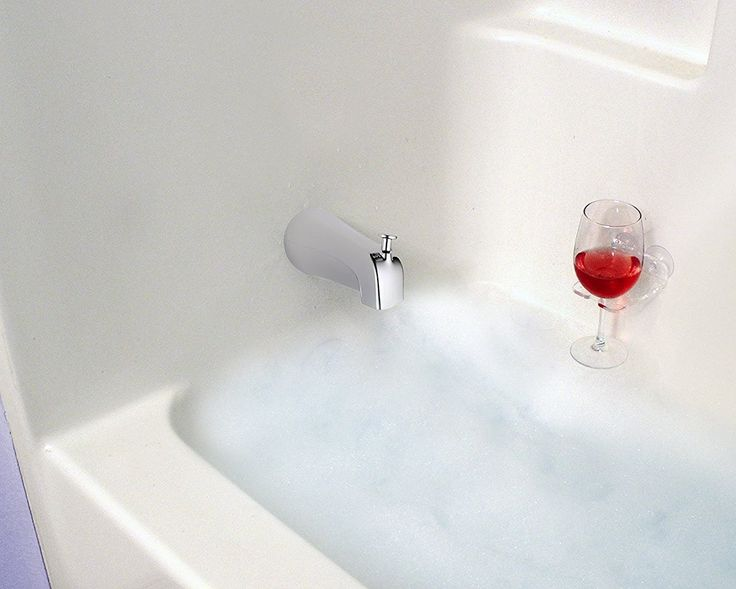 Amazon.com: Bathtub & Shower Wine Glass Holder with Suction Cups, Clear Plastic: Home & Kitchen