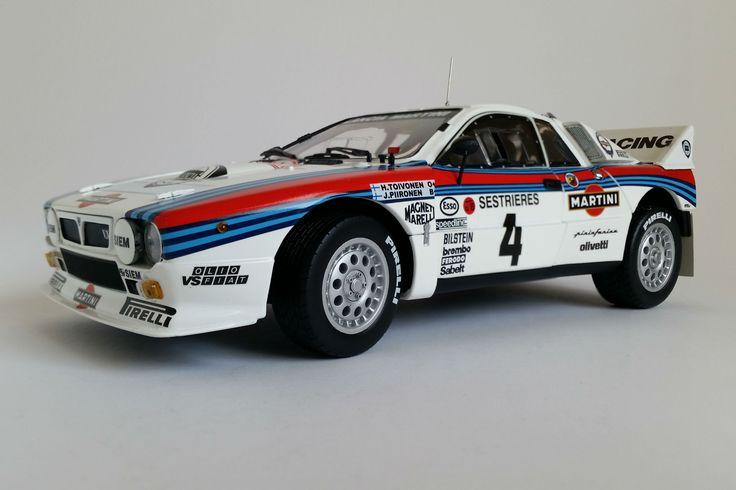 Lancia 037 Martini (1985 Monte Carlo Rally) - 1:18 Scale Diecast Model Car
