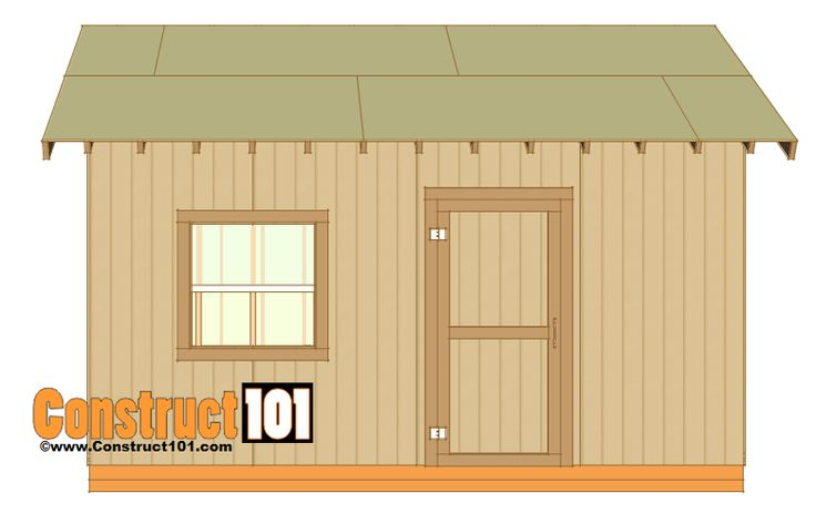 12x16 shed plans gable design roof deck decking and for Shed roof garage plans