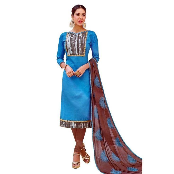 Readymade Cotton Salwar Kameez Embroidered Dupatta Indian Dress  #FreeShipping #Designer #ShopNow #DressMaterial #NewStuff #SalwarKameez #LowestPrice #SalwarSuit