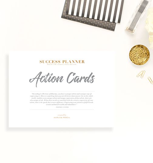 Action Cards – product page