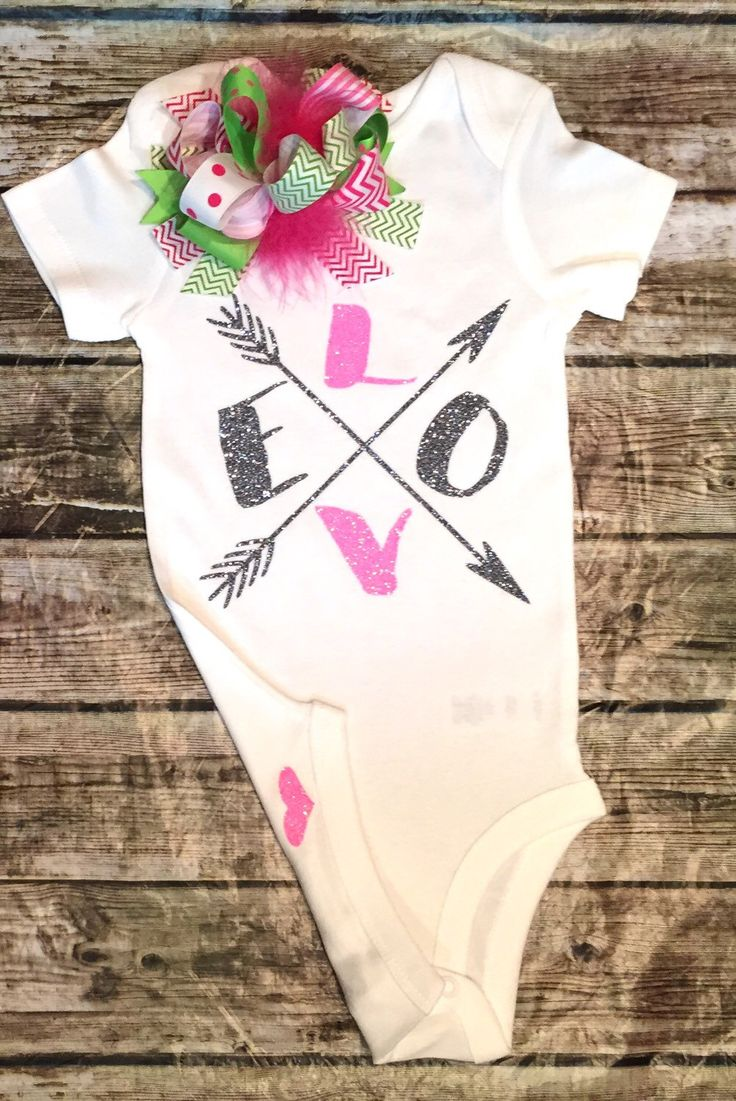 A personal favorite from my Etsy shop https://www.etsy.com/listing/249654586/love-onesie-baby-girl-love-onesielove
