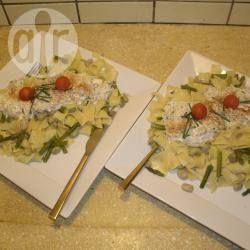 Tagliatelle met asperges en gerookte forel @ allrecipes.nl