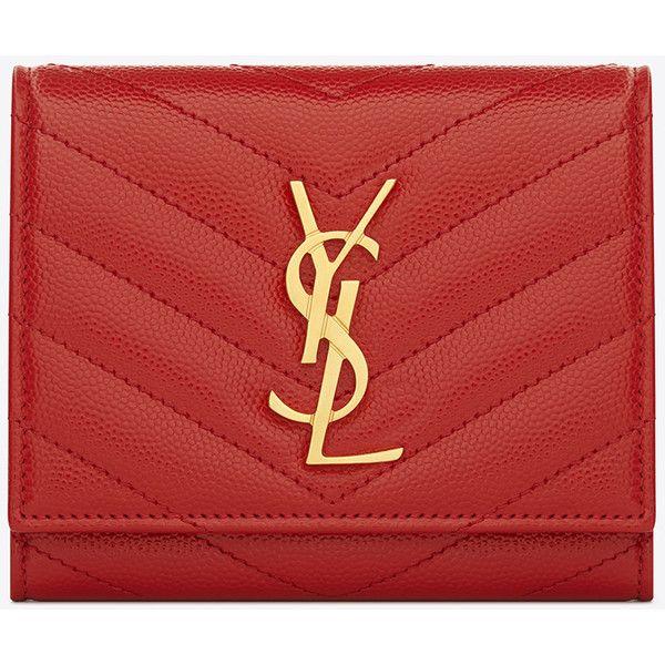 Yves Saint Laurent Monogram Saint Laurent Compact Wallet In ...