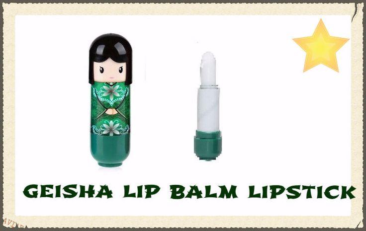 kimono Lip Balm Gloss Lipstick,burrocacao,balsamo  labbra,makeup,green geisha.4€spedizione incluse #manga #makeup #swag