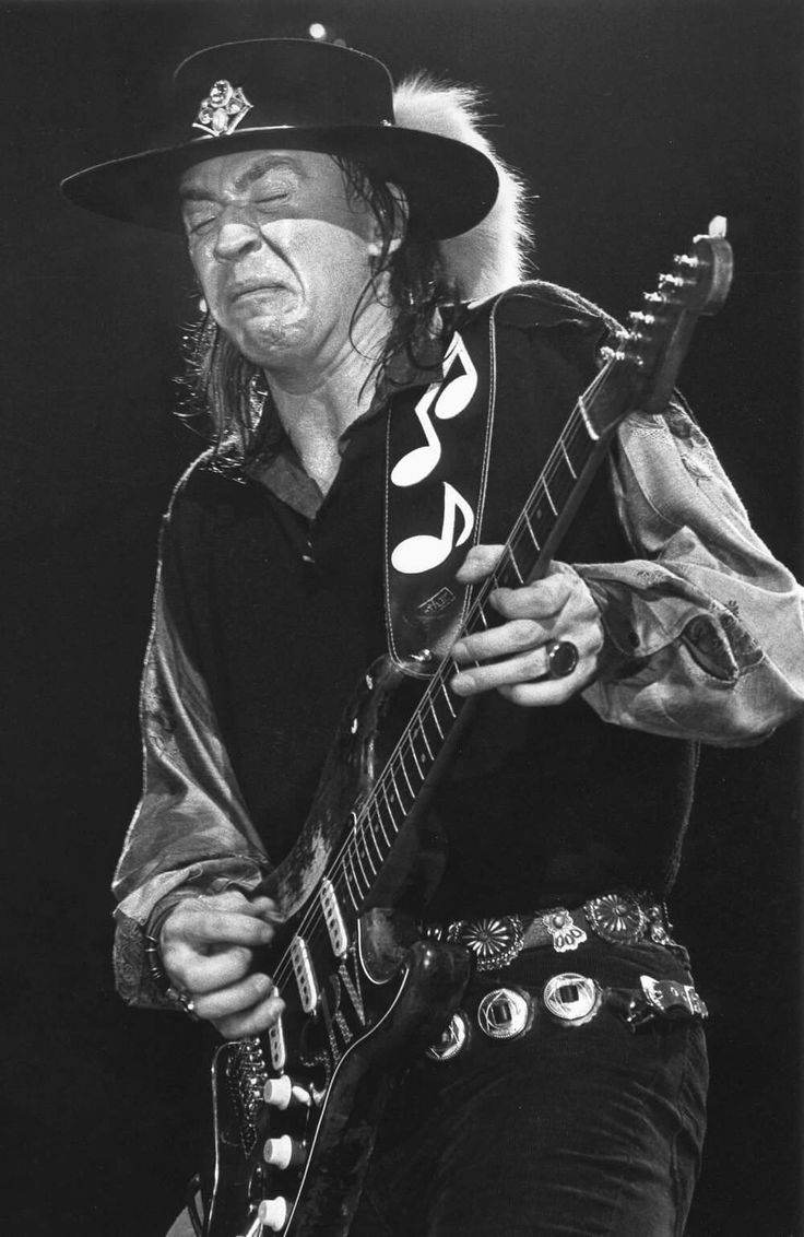 Stevie Ray Vaughan, playin' his heart out
