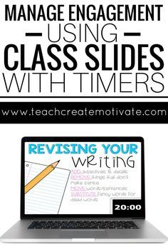 Manage classroom engagement with these slides! Built in timers keep students and teachers on track during the school day!