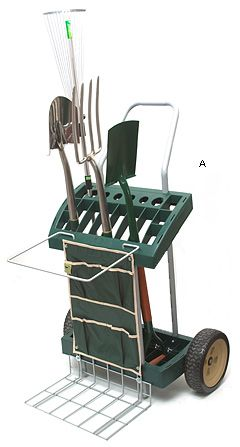 I love my garden tool carrier and it saves me several trips around our property to find that shovel or rake or spade. Everything I need is right there! It really holds a lot of garden gear.