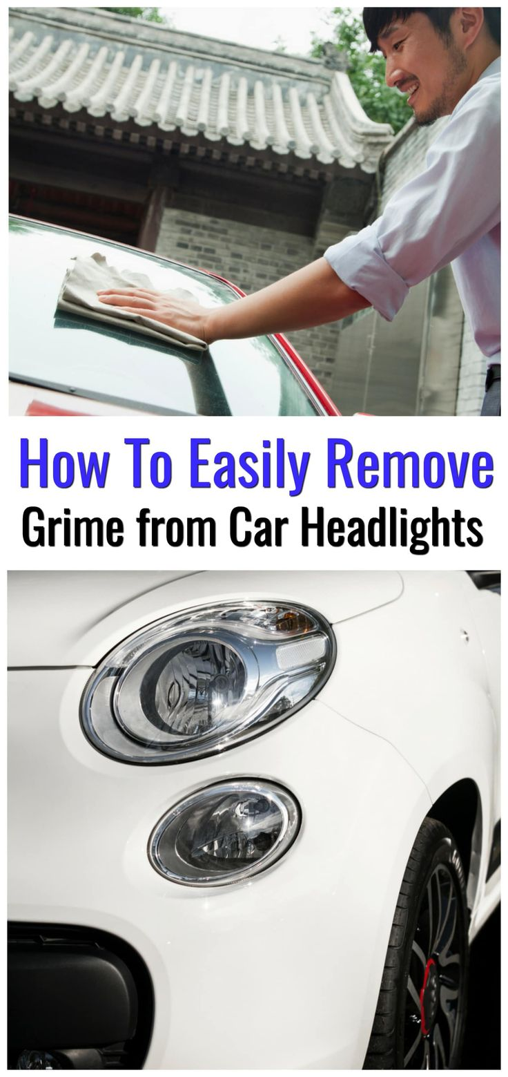 Need to remove grime from car headlights? Here is how to easily remove grime from car headlights with a product you probably already have at home. A very easy tip! #cleaning #car #removeroadgrime #cleaningtips #carwash