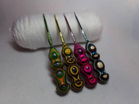 crochet hook 4 Handmade Too Shay Crochet Hook Handle with Boye