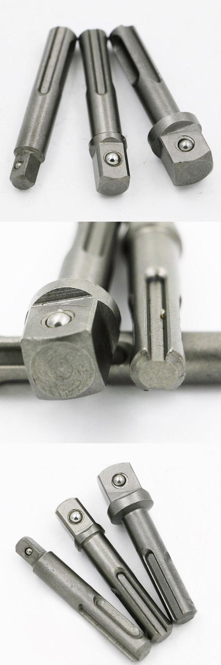 [Visit to Buy] 3Pcs/Set Power Extension Socket Driver 1/4 3/8 1/2 SDS Drill Chuck Adapter Converter hammer  impact drill Power Tool #Advertisement