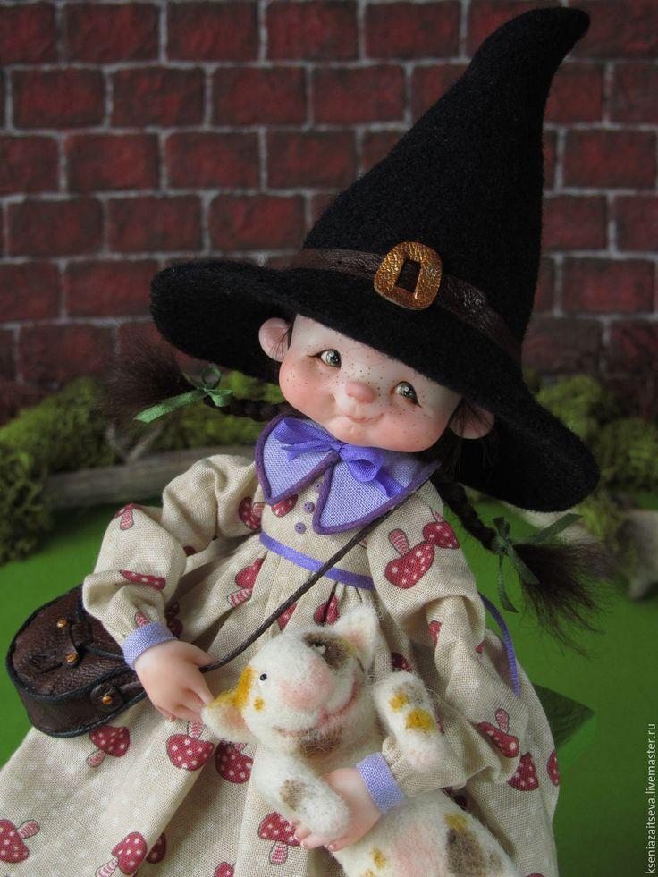 """Купить """"Шушуня"""" - комбинированный, коллекционная кукла, авторская кукла, куклы ксении зайцевой, волшебница, девочка"""
