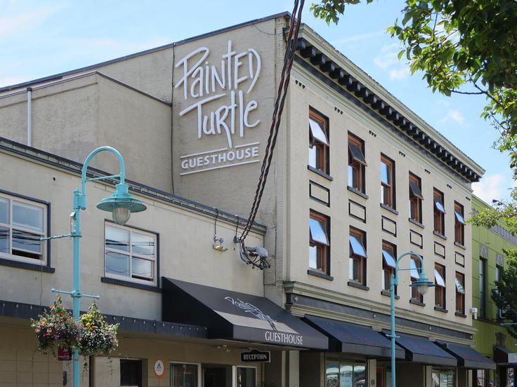 The Painted Tutle Guesthouse occupies the forner Commercial Hotel (1913) in downtown Nanaimo, British Columbia, Canada. Today it's the city's most popular backpacker venue.